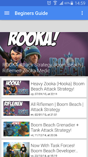 Guide for Boom Beach 2015
