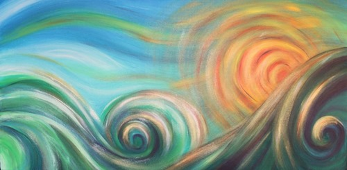 surf sun sky abstract