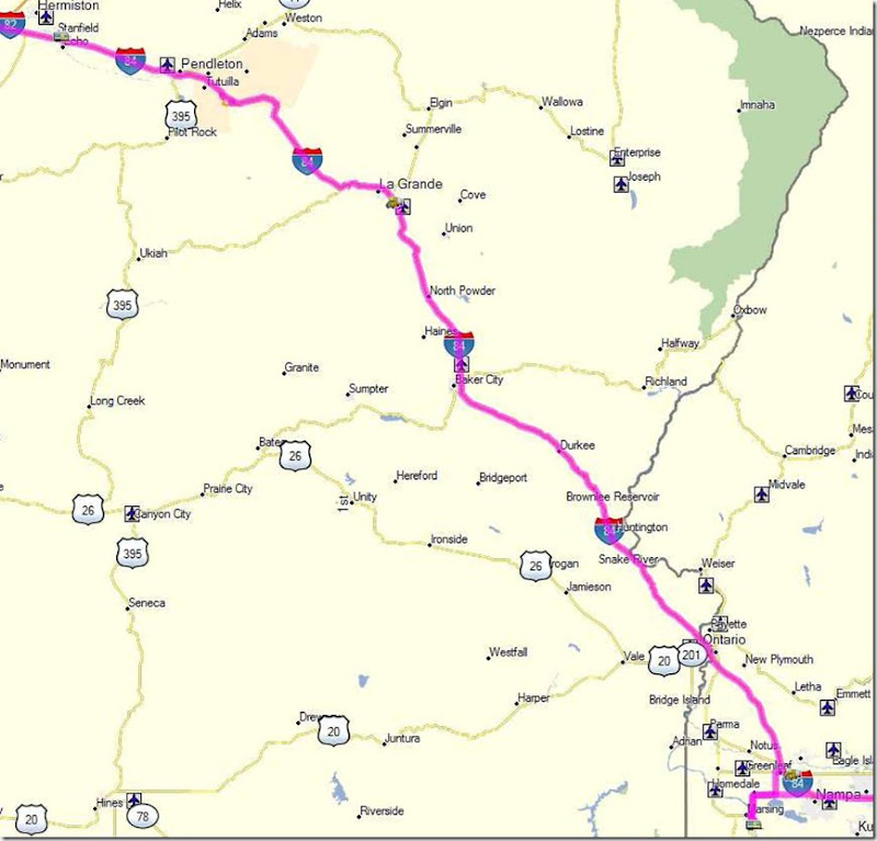 Our Travel Log Day 12 Marsing Id To Stanfield Oregon July