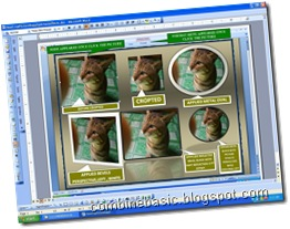 How to crop picture with effects using MS-Office Word 2007