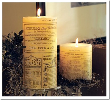 Pottery Barn Print Candles