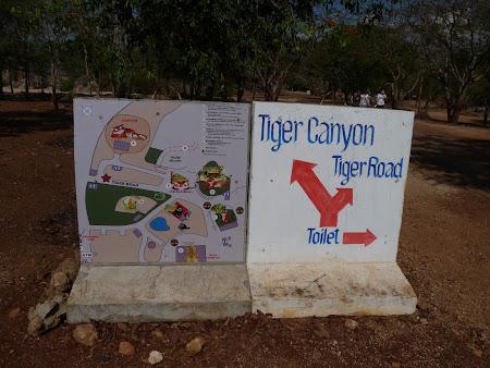 Templul tigrilor Thailanda - Harta manastirea tigrilor