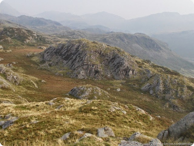 looking down on bull crag