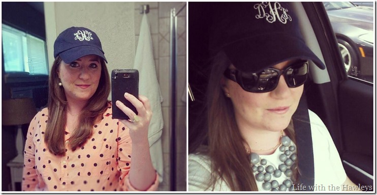 Monogram Hat Selfies