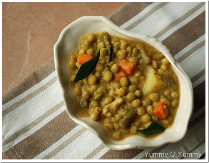 Green Peas and Vegetables in Coconut Milk