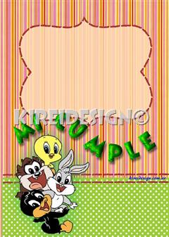 Tarjetas Cumple Looney Tunes Babys Plantillas Gratis