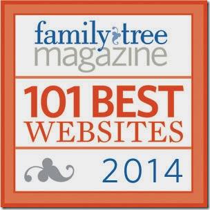 这Ancestry Insider is one of Family Tree Magazine'S 101 2014年最佳网站。