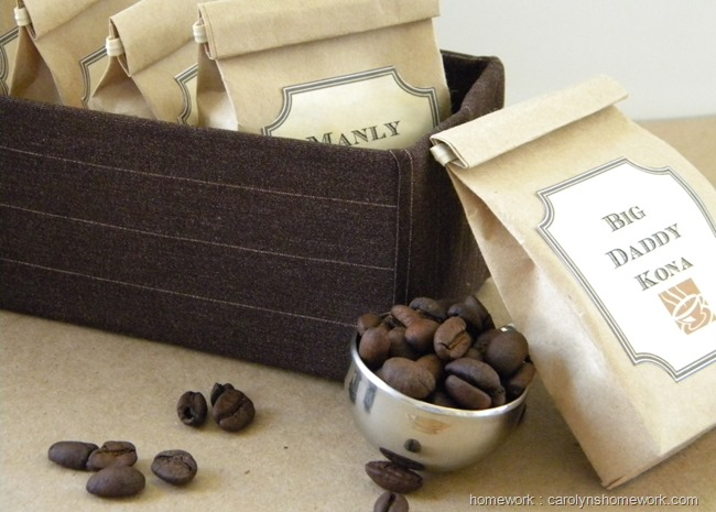 Father's Day Coffee Sampler with DIY Bags and Labels | carolynshomework.com