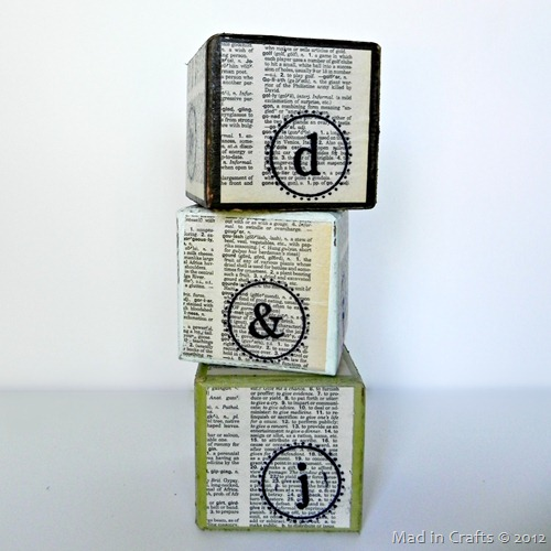stamped typography blocks square