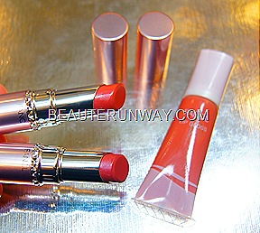 Fancl Moisture Rouge in jelly pink, sweet rose and lip gloss