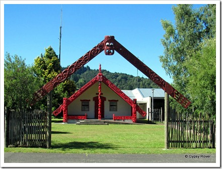 Marae at the top end of town, Taumarunui.