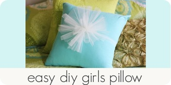 easy diy girls pillow