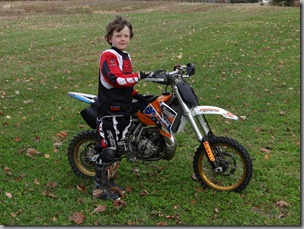 Osian with his KTM 65