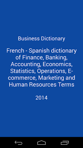 【免費書籍App】Business Dictionary Lite Fr Es-APP點子