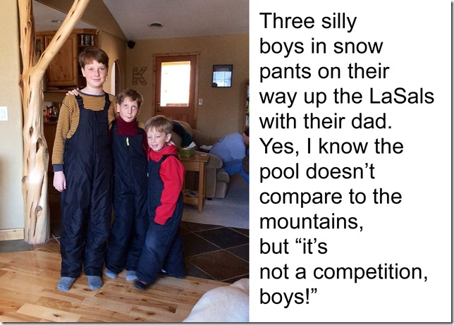 boys in snowpants