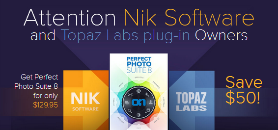 Upgrade from Nik or Topaz to onOne for only $129.95