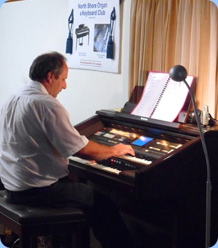 Our guest artist, Doug Farr, played our Technics GA3 beautifully for us. It is great to hear the gorgeous, lush tones of our electronic organ when played by a master keyboardist.