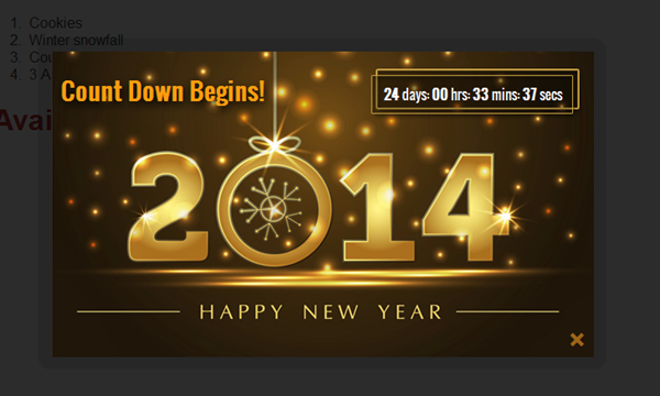 Show countdown timer jquery | 20+ jQuery Countdown Timer Plugin with
