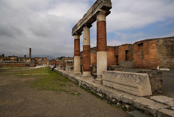 Antigua ciudad romana de Pompeia.Forum.Pompeia, Itàlia