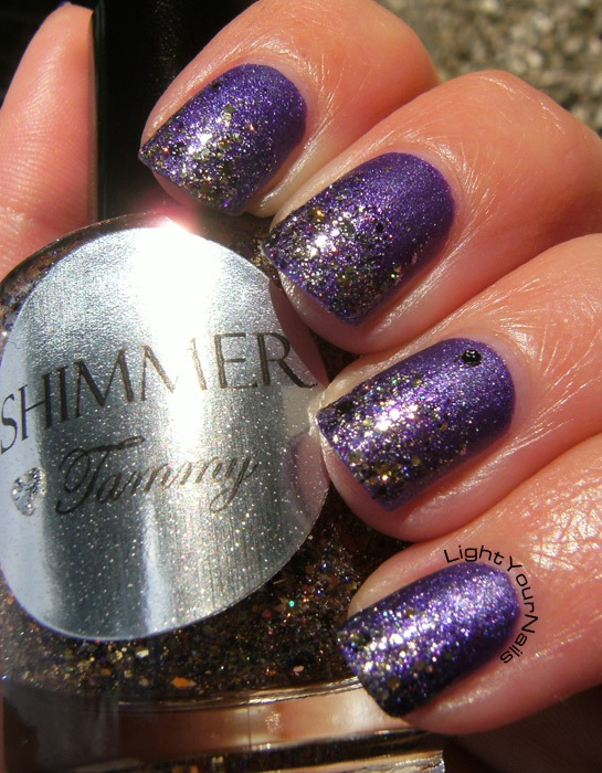 Yes Love New Matte M03 + Shimmer Tammy glitter gradient