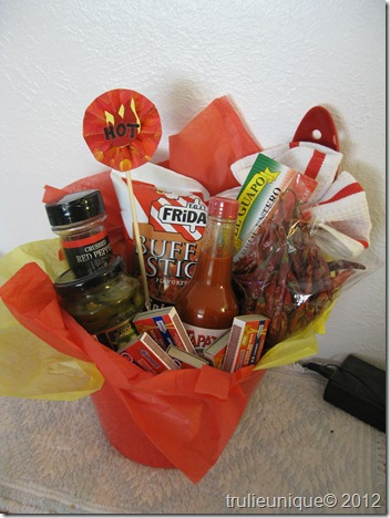 chili-cook off prize, gift basket, themed gift basket
