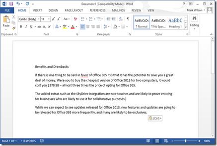 keuntungan dan kerugian memakai Office 2013