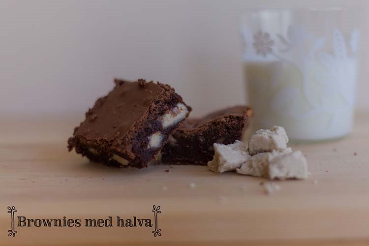 Brownies med halva