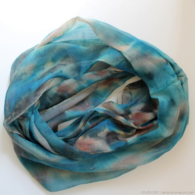 Tulip Tie Dye Watercolor Scarves via homework - carolynshomework (12)