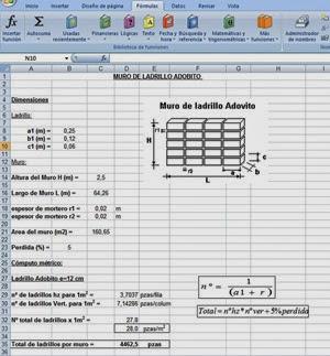 Computos metricos muro de ladrillo