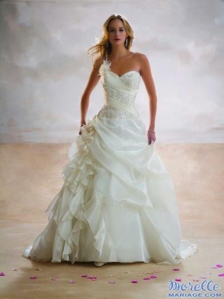f9da121f56a81 فساتين زفاف جميلة لارقى صبايا 2015 ، فساتين زفاف رقيقة