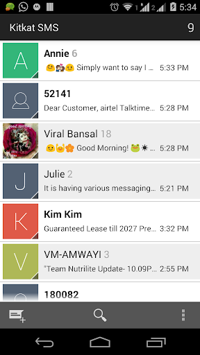 Kitkat SMS - Android 4.4.4