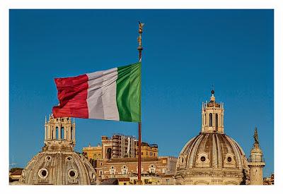 Rom: Geocaching über Silvester - Fahne von Italien