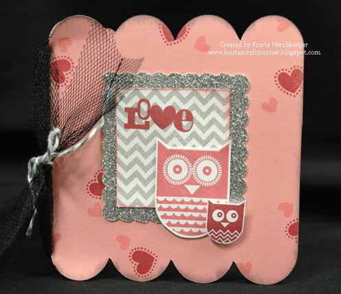 Whoos your valentine_owl scalloped square card