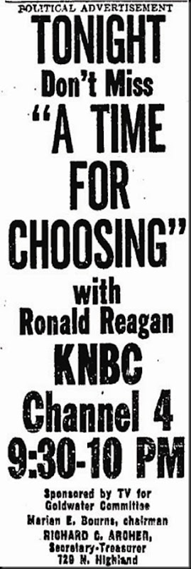 Reagan Speech Ad