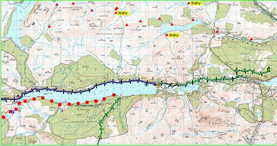 TGO CHALLENGE 2012- DAY 7 MAP