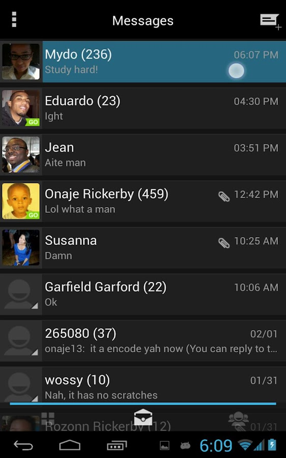 JellyBean Go SMS Theme - screenshot