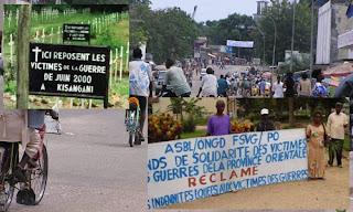 Kisangani, les victimes de la guerre de six jours réclament réparation.