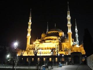 Mosquée bleue à Istanbul by night