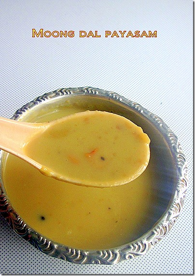 Moong dal payasam 1