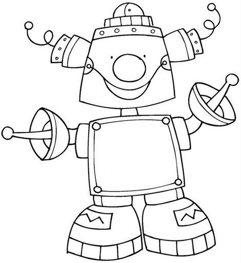 DIBUJOS DE ROBOTS PARA COLOREAR – Dibujos para colorear