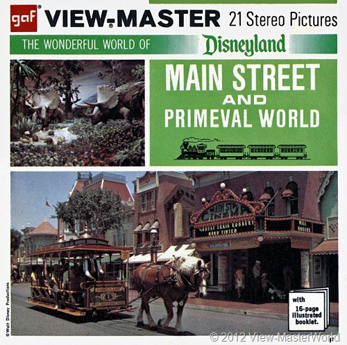 View-Master Disneyland Main Street and Primeval World (A175): Packet Cover
