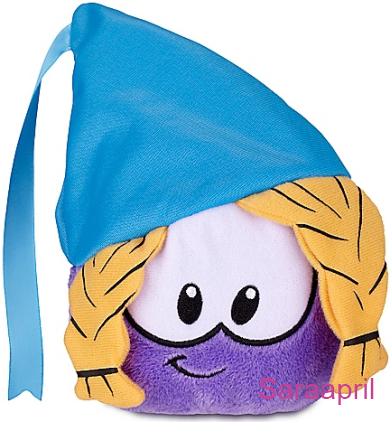Purple Puffle Plush with Princess Hat :)