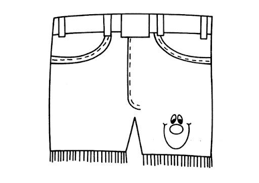 Colorear Dibujo Pantalón En Línea: Dibujo De Short Para Colorear