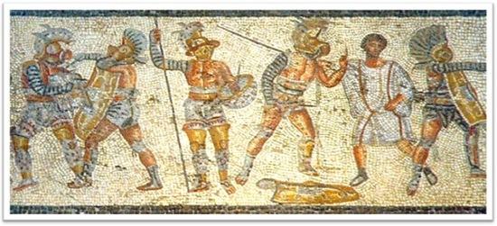 gladiadores retratados