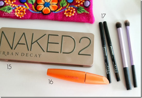 What is in ONE little MOMMA's makeup kit- all of the products laid out and linked up!