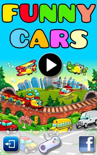funny cars game for kids screenshot