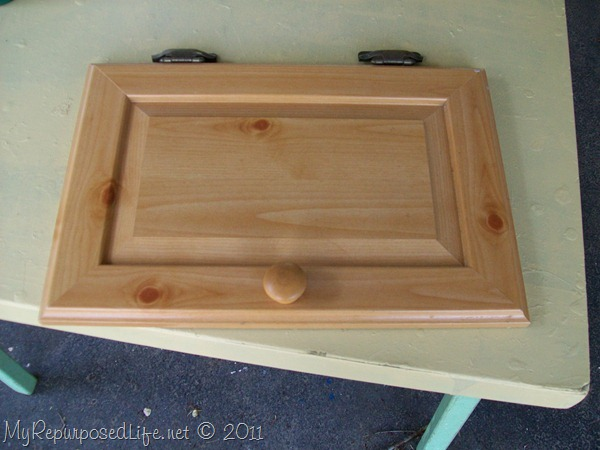 small cupboard door from microwave cart