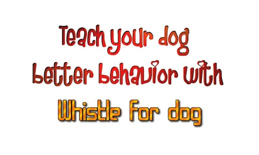 Whistle for dog - screenshot thumbnail