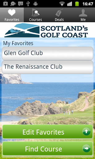 Scotland Golf Coast Tee Times
