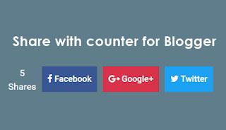 Tạo nút chia sẻ có bộ đếm cho Blogspot